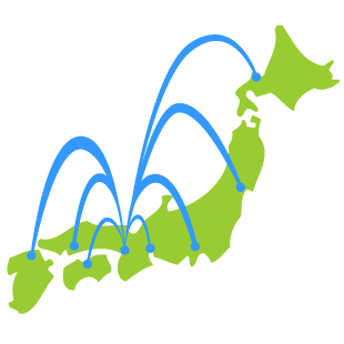 全国ネットワークのイメージ